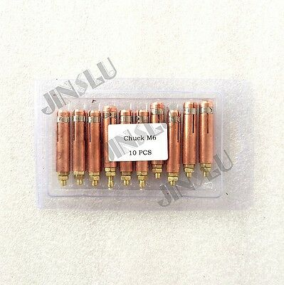 Collet M6 for Capacitor Discharge (CD) Stud Welding Stud Gun 10pcs Spot Welding