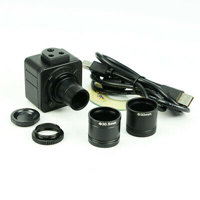 Microscope Digital C-Mount Video Camera 5MP Electronic Eyepiece USB w/ Adapter