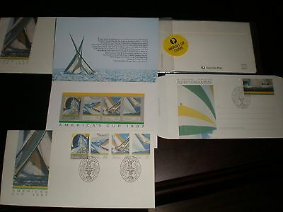 1987 America's Cup Yacht Racing First Day Covers & Stamps