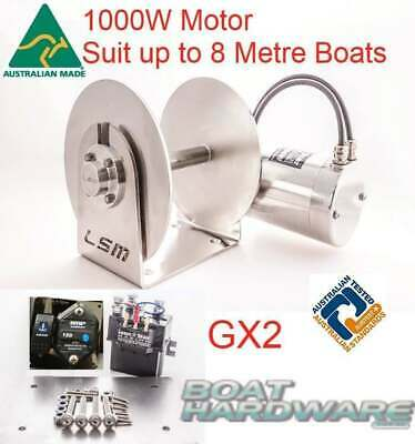 Anchor Winch GX2 Lone Star 1000W Electric Drum up to 8m Boat Fast Drop/Retrieve