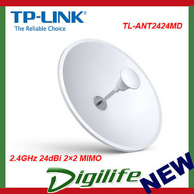 TP-Link TL-ANT2424MD 2.4GHz 24dBi 2×2 MIMO Dish Antenna - TL-ANT2424MD