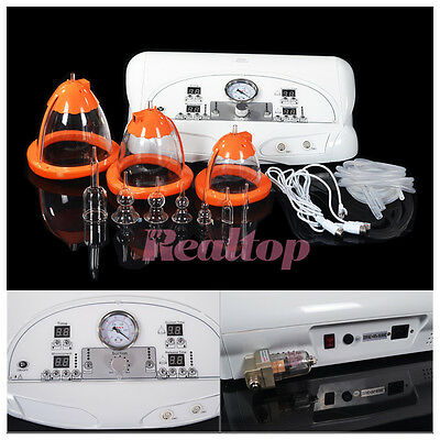 Vibration Breast Enlarge Therapy Vacuum Suction Cups Breast Enhancer Massage