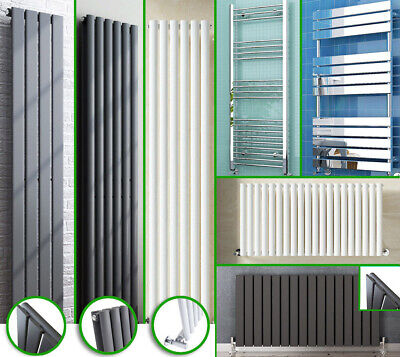 Central Heating Designer Radiators Horizonal Vertical Double White Anthracite