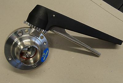 Stainless Steel Hygienic Butterfly Valve Plain With Handles