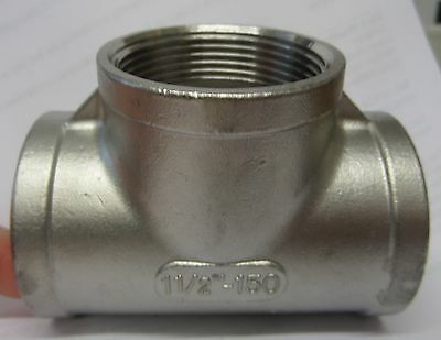 BSP Fittings - Stainless Steel - Threaded Equal Tee