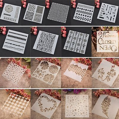 Layering Stencils Templates for Scrapbooking Drawing DIY Wallpaper Home Decor