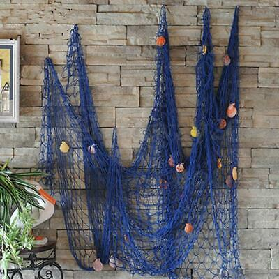 Nautical Fishing Net Seaside Wall Beach Party Sea Shells Home Garden Decor new