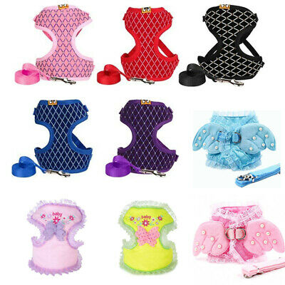 Puppy Soft  Harness Leash Small Pet Dog Cat Vest Safety Control Walk Out Straps