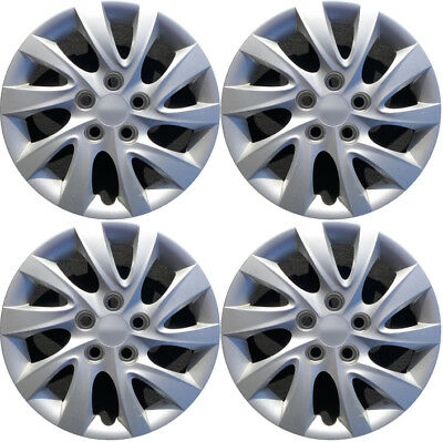 New Set Of 4, 16 Inch Silver Aftermarket Wheel Covers Hubcaps for 10-13 Elantra