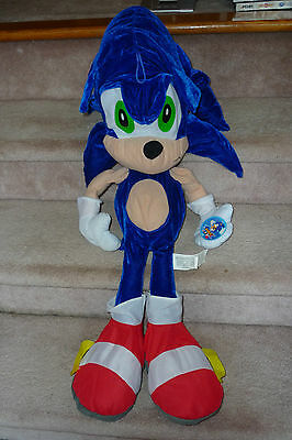 """HUGE 30"""" Sonic the Hedgehog Sonic X Plush Character Toy with Tags Toy Network"""