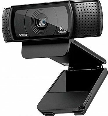 New Logitech USB HD Pro C920 Webcam With Auto-Focus And Microphone - Black