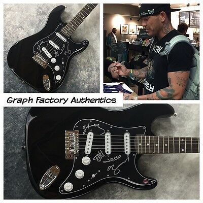 GFA Hip Hop Rock Band * HOLLYWOOD UNDEAD * Signed Electric Guitar PROOF AD2 COA