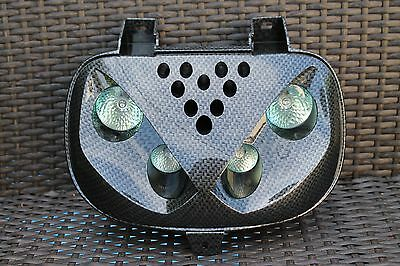 4 OPTICAL MASK 2x20W - 2x10W YAMAHA MBK BOOSTER/BW'S GLOSSY BRAIDED CARBON