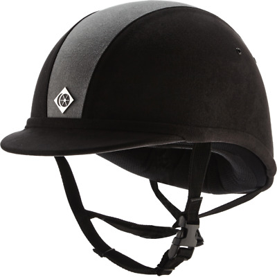 Charles Owen YR8 Riding Hat - Midnight Charcoal/Silver