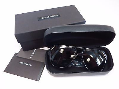 Authentic Dolce & Gabbana DG 4138 501/87 Shiny Black Frame/Grey Lens Sunglasses
