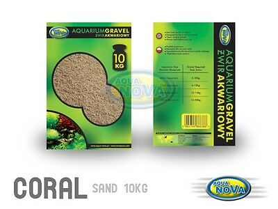Aqua Nova 5Kg Bag Coral Sand 10mm for Marine and Cichlid Tanks