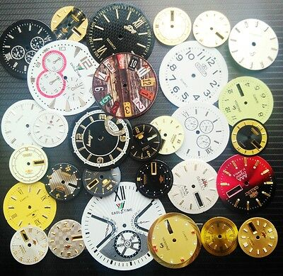 30pcs Lot of Steampunk Watch Faces Dials Parts for Jewelry Making Industrial Art