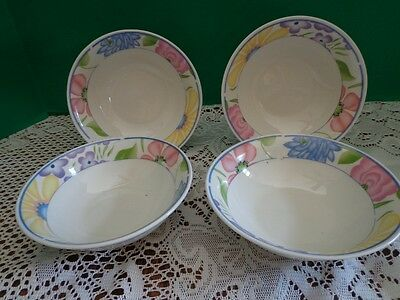 Tabletops Unlimited Garden Bouquet Floral Cereal Bowls Set of 4 Floral Soup Bowl