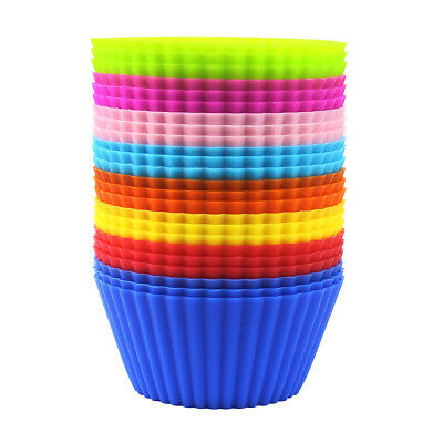 Silicone Baking Cups / Cupcake Liners 24 Pack - Reusable and Non-stick