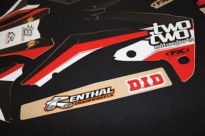 Honda Crf250R- Crf450R Two Two Fx Mx Graphics Decals Kit Stickers