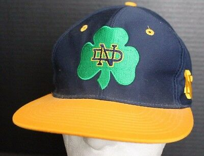 Vintage University Of Notre Dame Fighting Irish The Game Fitted Hat Size 7 Cap