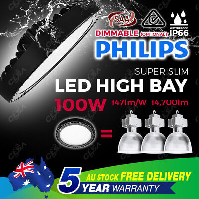 LED 100W High Bay Light Warehouse Industrial Factory Commercial Philips Lamp UFO