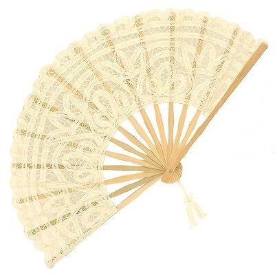 Battenberg Lace Fan in Cream