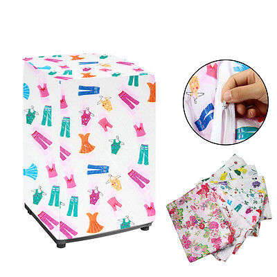 Beauty Waterproof Washing Machine Zippered Top Dust Cover Protection Durable FB