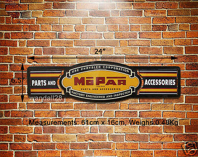 MOPAR Parts Accessories Embossed Metal Sign Wall Decor Racing Garage Ads Display
