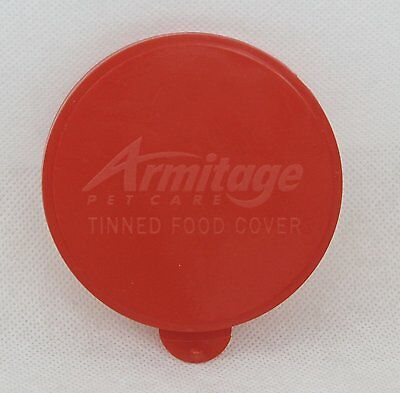 Armitage Red Tinned Food Cover for 400g cans. Fresh dinner, tea, dishwasher safe