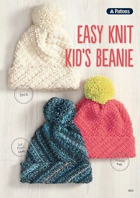 Patons Easy Knit Kid's Beanie Pattern Leaflet #9001