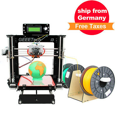 Geeetech 3d Drucker Dual Extruder two print head Prusa I3 all metal holder parts