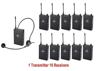 EXMAX UHF-938 Wireless Tour Guide System Teaching Micrphone System Monitoring