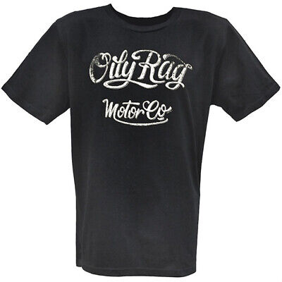 Oily Rag Clothing Motor Co Motorcycle Casual T-Shirt - Navy