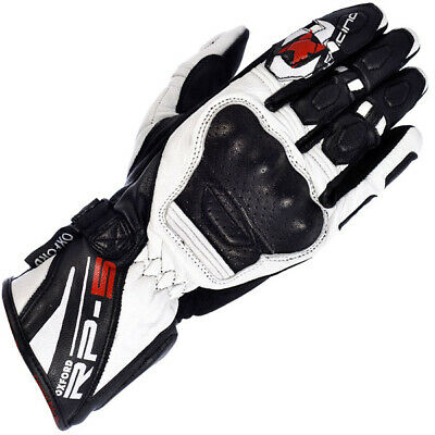 Oxford RP-5 Leather Motorcycle Motorbike Glove - Black / White
