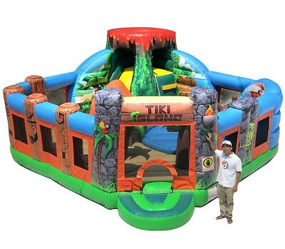 Commercial Jumping Castle Tiki Island Toddler Combo - AS3533.4.1 Compliant