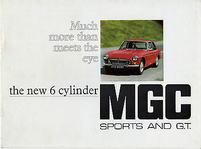 MG MGC 1967-70 UK Market Sales Brochure Roadster GT