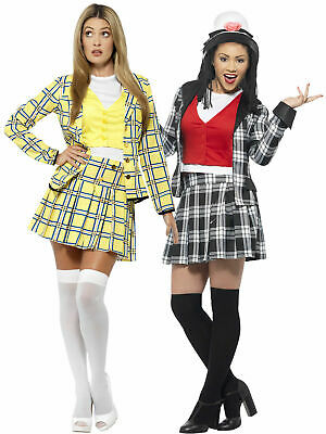 Adults Clueless Costume Ladies Cher Dionne Fancy Dress 90s Film Womans Outfit