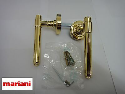Mariani Round Rose Polished Brass Handle -  New