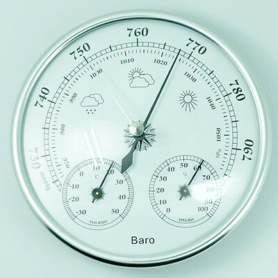 130mm Wall Hanging Barometer Weather Thermometer Hygrometer Home 960~1060hPa New