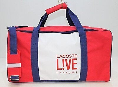 New Lacoste Live Red And White Holdall, Weekend Bag Bargain £13.99!