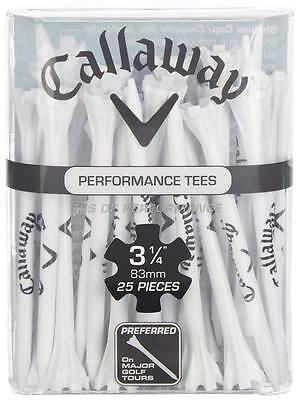 Callaway Performance Fly Tees 25 Pack 3.25 Inch White
