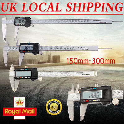Digital LCD Display Vernier Caliper 150-300mm Electronic Tool Micrometer Gauge