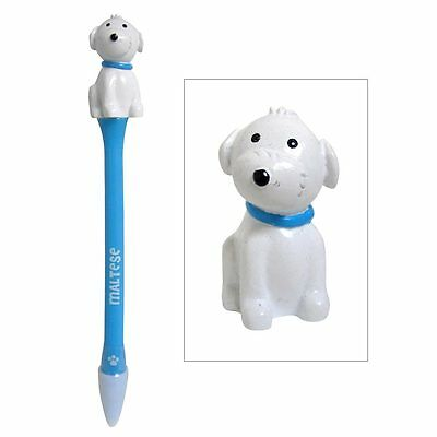 Maltese Figurine Topper Pen Blue Ink