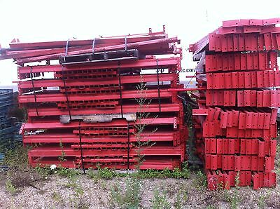PRICE IS PER UNIT 42' X 216'  Used Pallet Rack Warehouse Shelves.