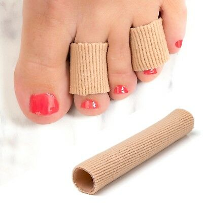 Fabric Gel Tube Toe Finger Separator - Pain Relief for Blisters Corns Calluses