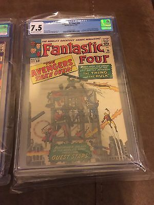 Fantastic Four #26 - Thing vs. Hulk conclusion - Classic Cover - CGC Graded 7.5