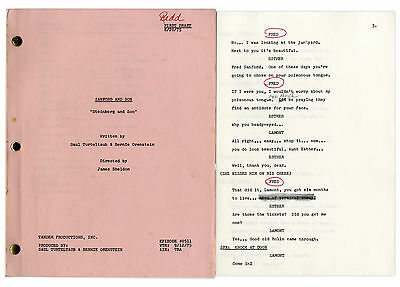 From Redd Foxx Estate Sanford & Son Script Season 5 #5