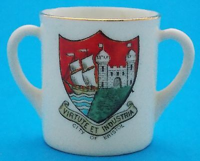 Wh Goss Model Of Ancient Mug See Of Bristol, Virtute Et Industria