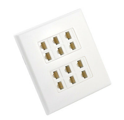 Cat6 Wall Plate 12 Port - Punch Down